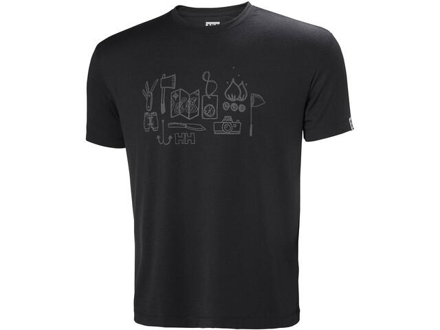Helly Hansen Skog Graphic T-Shirt Herren ebony